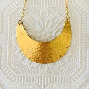 Hammered Gold Statement Necklace